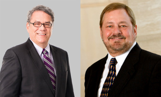 Philip Hinerman, left, is a partner at FoxRothschild, Philadelphia. William Lynott is chief operating officer of Viridian Partners, Highland Park, CO.